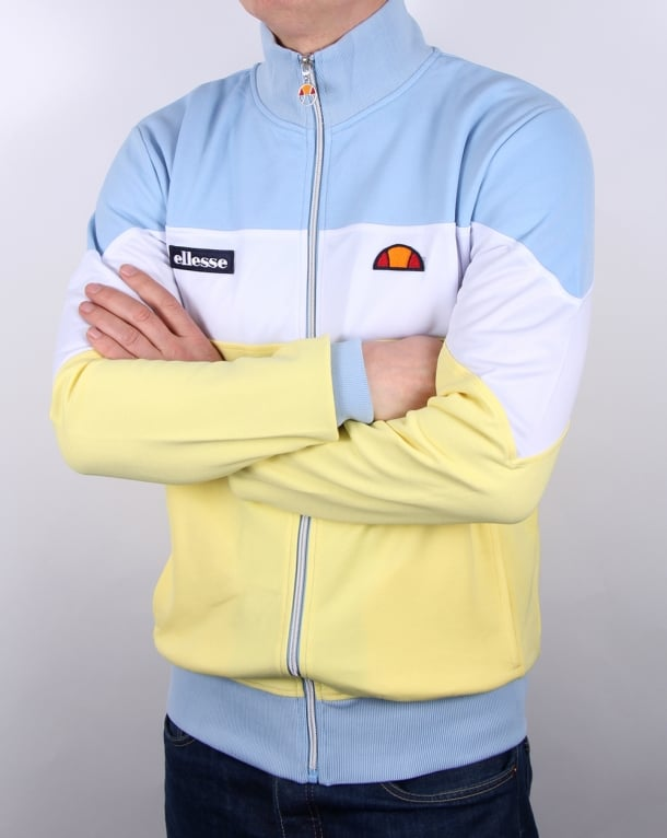 Ellesse Caprini Track Top Lemon/white/sky
