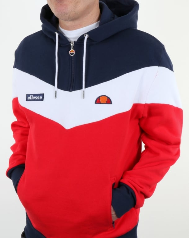 Ellesse Caserta Hoody Red/White/Navy