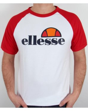 Ellesse Cassina Raglan S/s T-shirt White/red