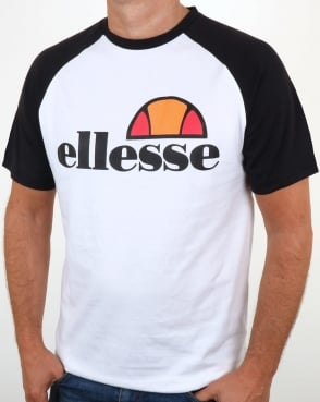 Ellesse Cassina Raglan T Shirt White/Black