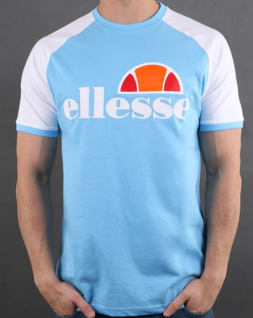 d9a48693 Ellesse Cassina T Shirt White/light Blue