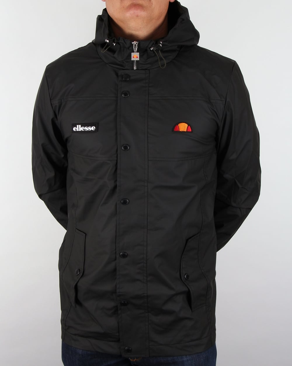 Ellesse Castelli Jacket Black,hooded,coat,parka,mens