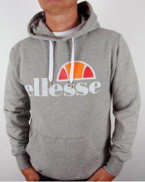 Ellesse Castello Overhead Logo Hoodie Grey Marl