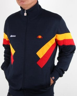 Ellesse Chierroni Track Top Navy/citrus/red
