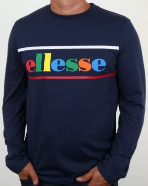 Ellesse Colours Long Sleeve T Shirt Navy