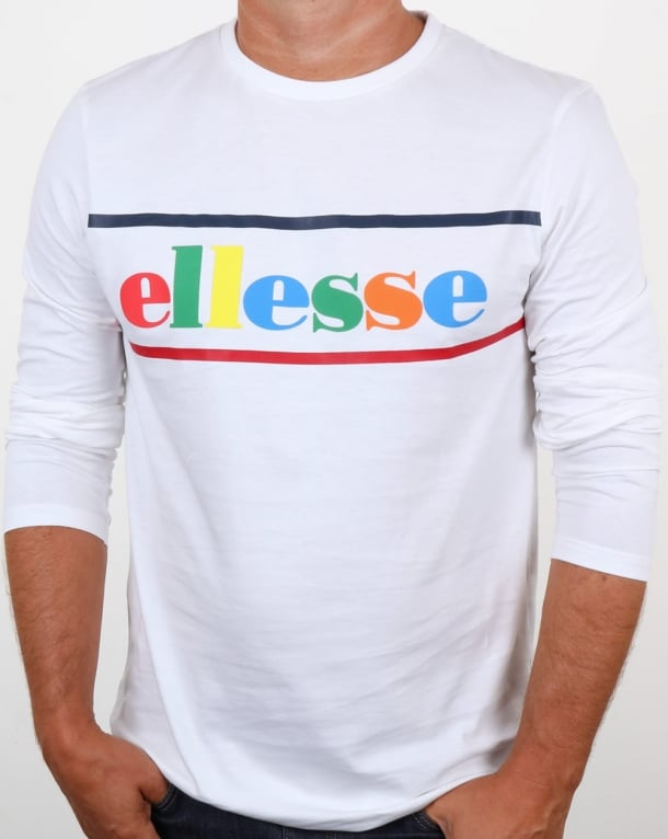 Ellesse Colours Long Sleeve T Shirt White