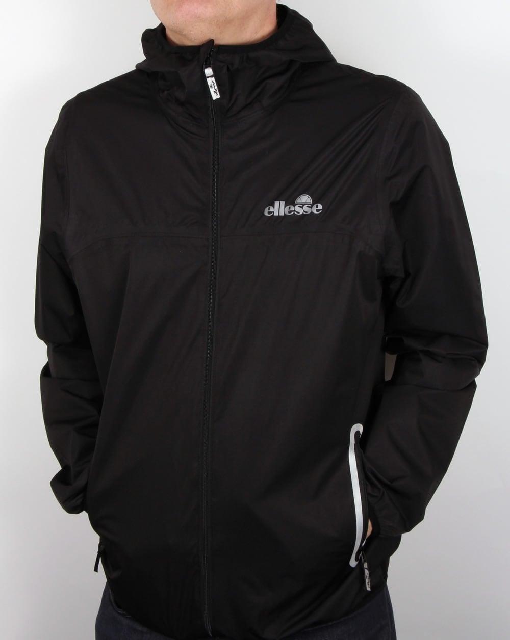 3744db831 Ellesse Comabbio Rain Jacket Black