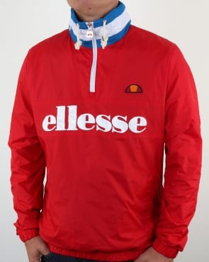 Ellesse Continental Hooded Jacket Red