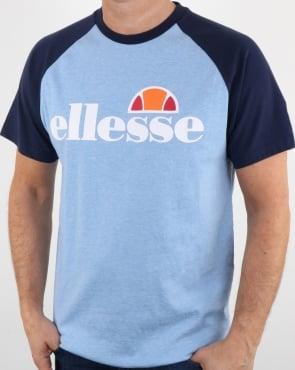 Ellesse Contrast T Shirt Sky Blue / Navy