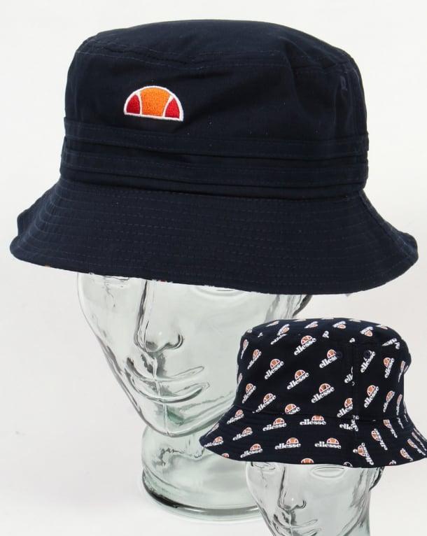 Ellesse Dario II Reversible Bucket Hat Navy,reni,80s