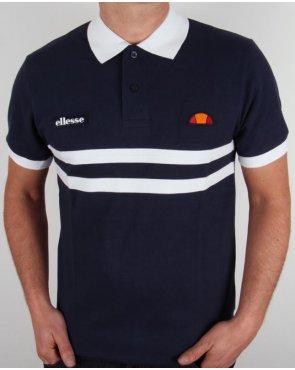 Ellesse Dorio Striped Polo Shirt Navy