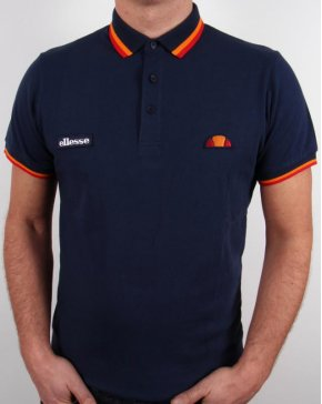 Ellesse Elite Tipped Polo Shirt Navy