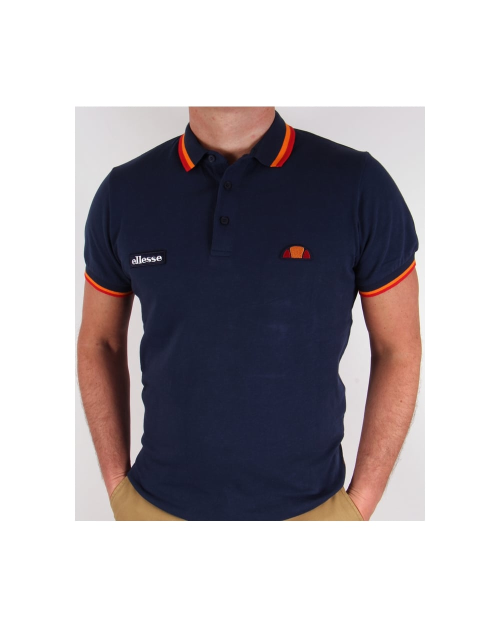 368b90479 ... sweden navy blue and orange polo shirt d3274 bcc87