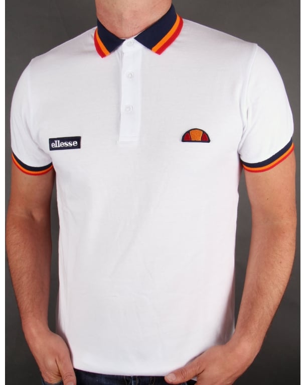 Ellesse Elite Tipped Polo Shirt White