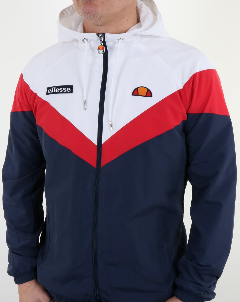 91fd7f6a97 Ellesse Faenza Track Top Navy/Red/White