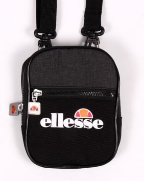 Ellesse Fiero Small Shoulder Bag Black/black Marl