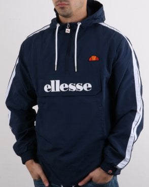 1cef860a51f2 Ellesse Fighter Quarter Zip Jacket Navy
