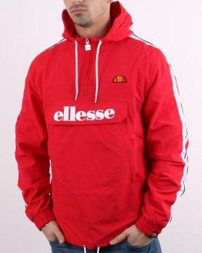 960fa5b9046 Ellesse Fighter Quarter Zip Jacket Red