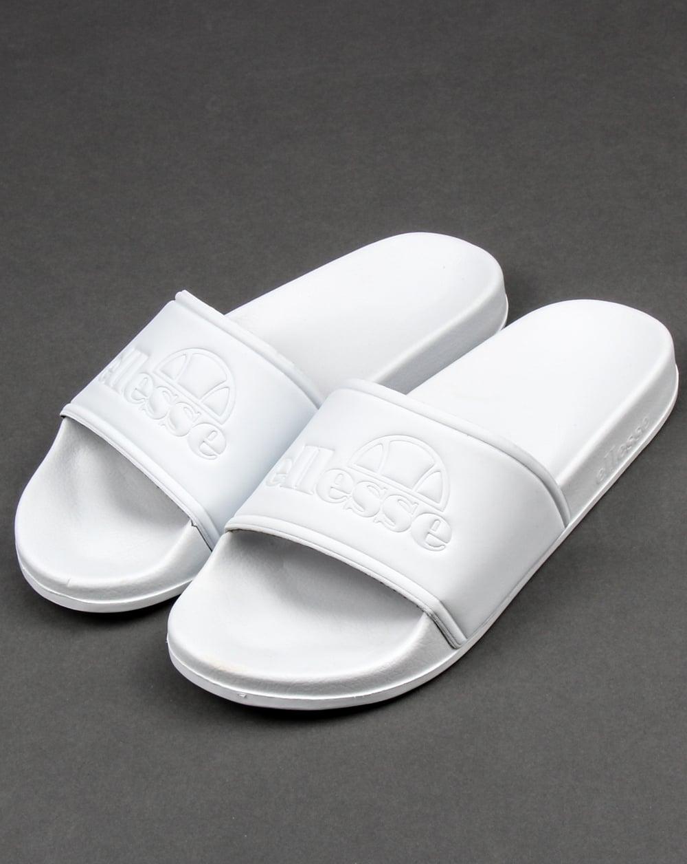 Ellesse Fillipo Sliders White Mono Flip Flops Sandal