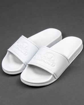 Ellesse Fillipo Slides White Mono