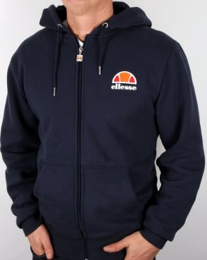 Ellesse Full Zip Up Hoody Navy