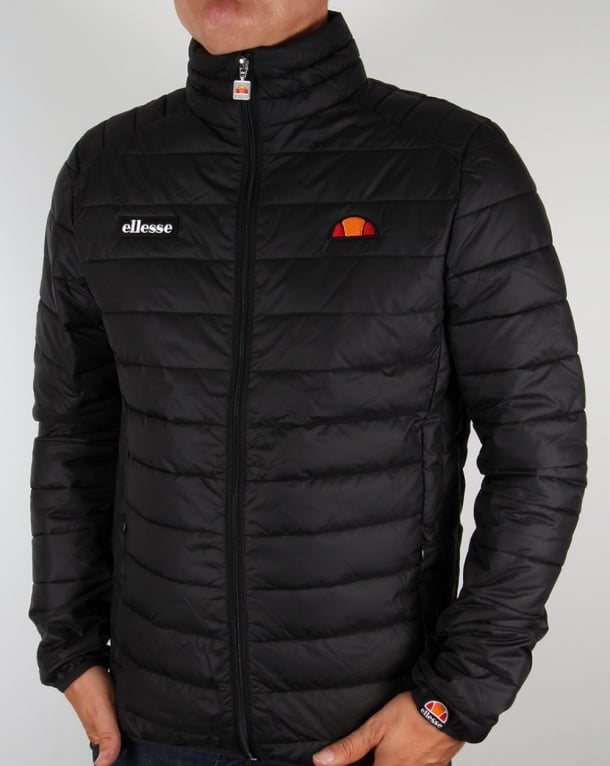 Ellesse Funnel Bubble Jacket Black