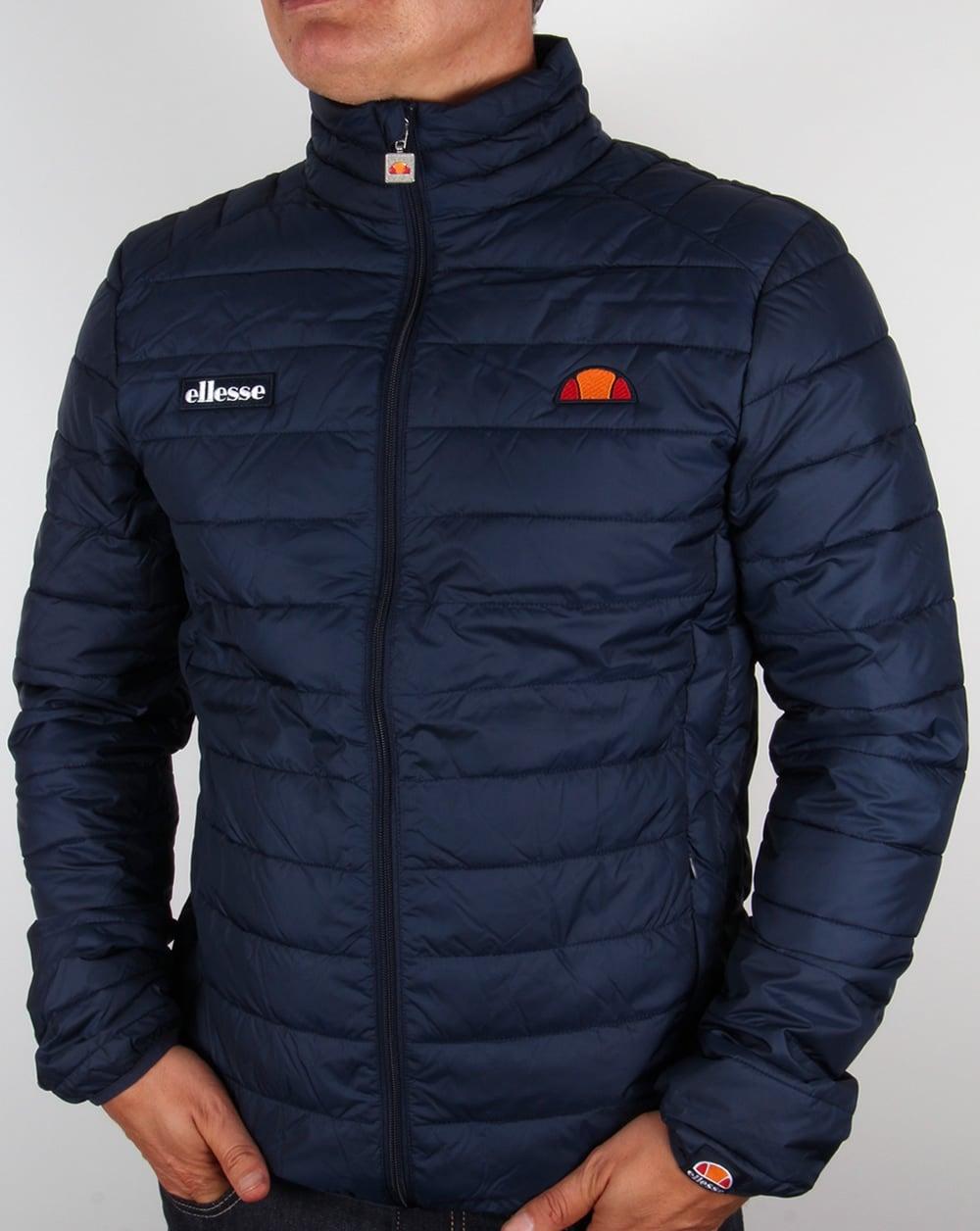 ellesse jacket navy bubble funnel puffer ski coat francesco. Black Bedroom Furniture Sets. Home Design Ideas