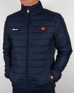 Ellesse Funnel Bubble Jacket Navy