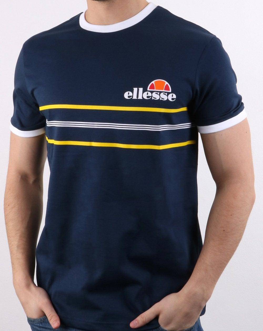 Ellesse Gentario T Shirt Navy