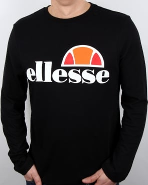 Ellesse Grazie Long Sleeve T Shirt Black