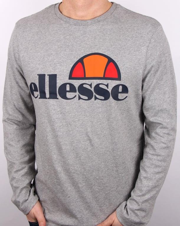 Ellesse Grazie Long Sleeve T-Shirt Grey Marl