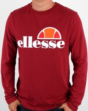 Ellesse Grazie Long Sleeve T Shirt Tibetan Red