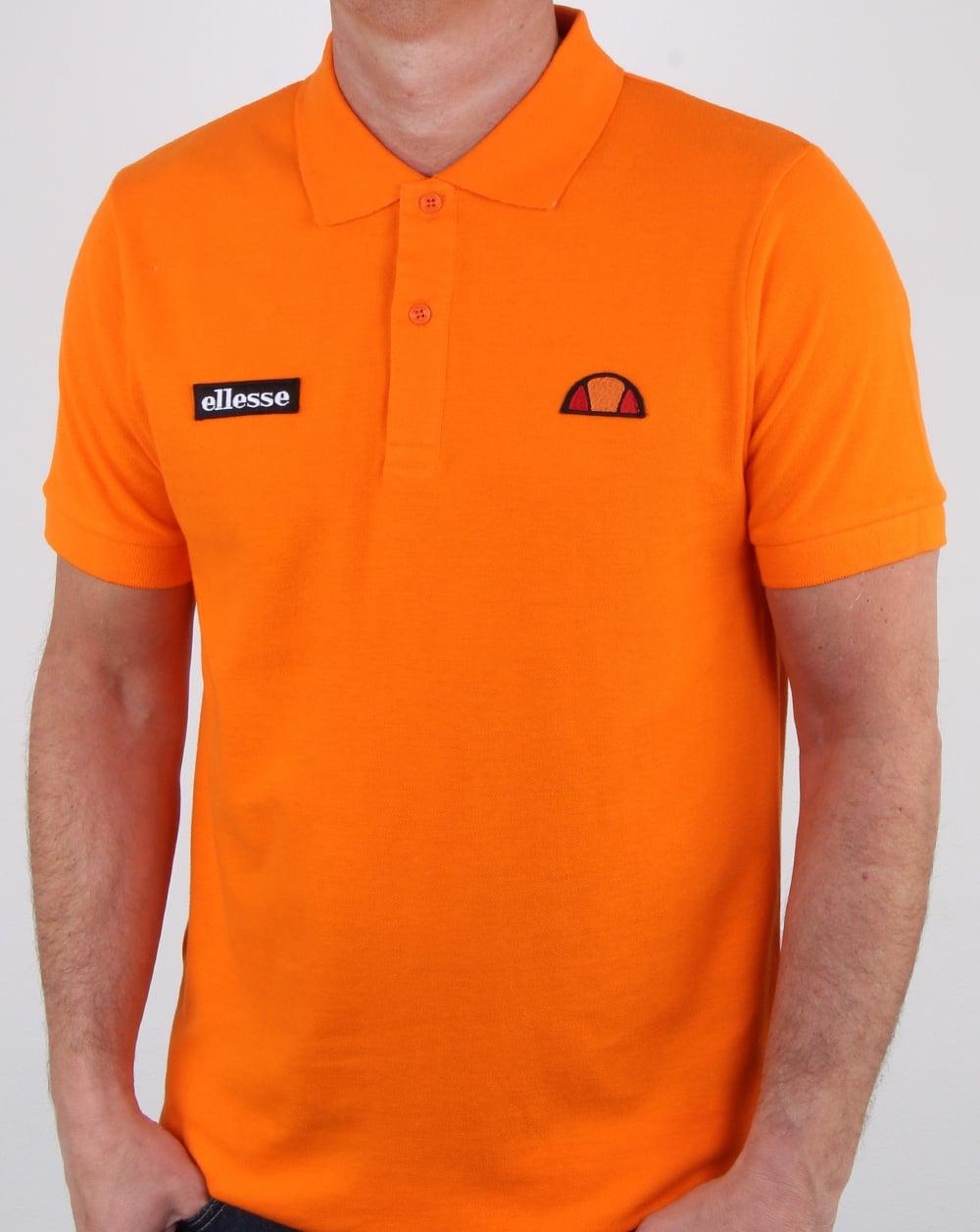 63c075b7b6e Ellesse Montura Polo Shirt Orange, Mens, Polo Shirt, Cotton, Collar