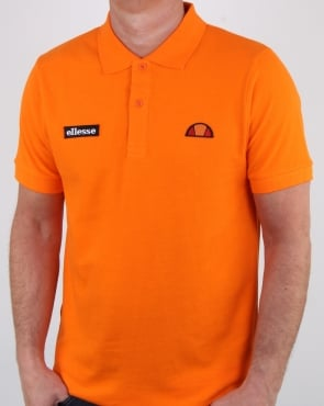 Ellesse Heritage Polo Shirt Orange