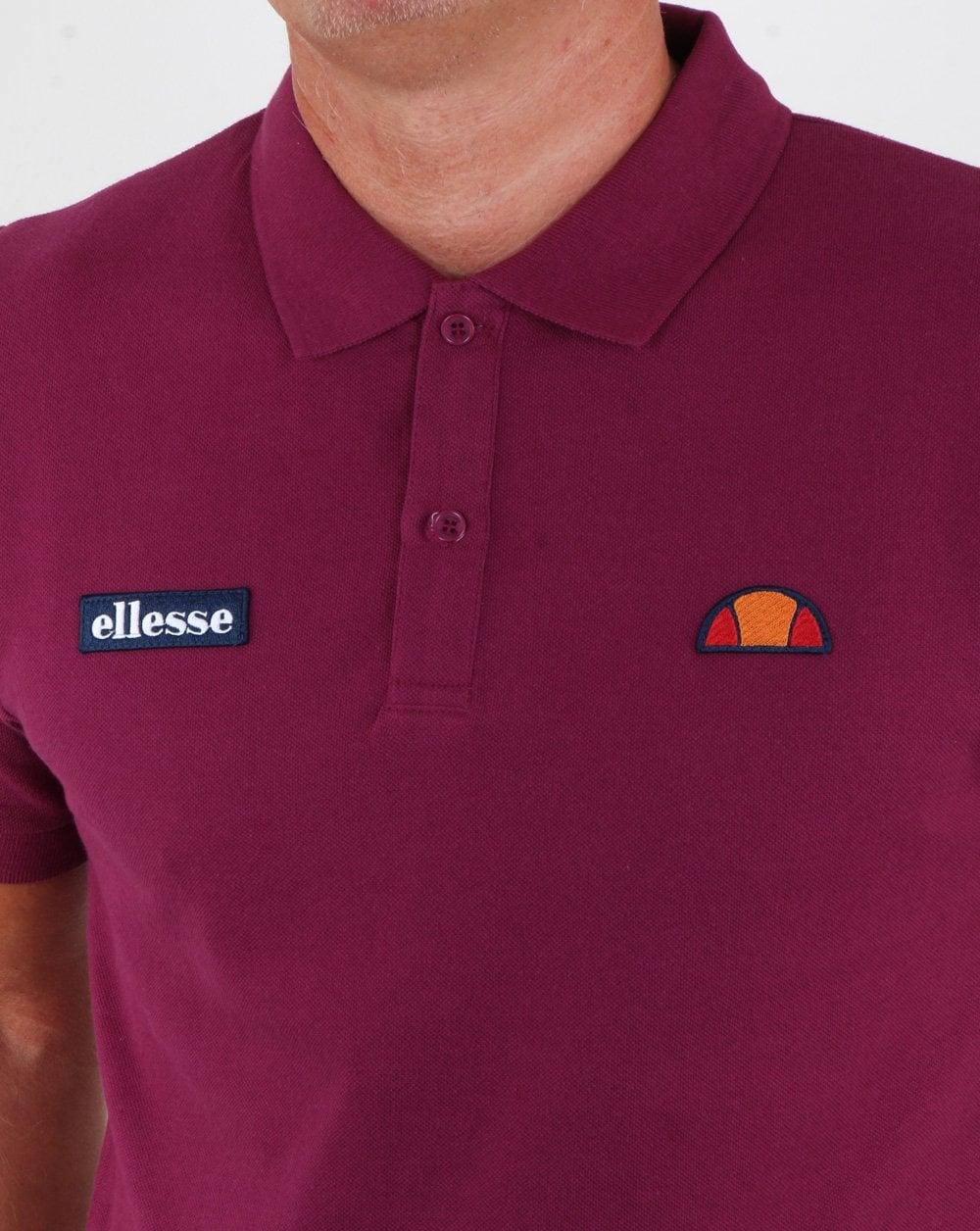 b4380cec Ellesse Heritage Polo Shirt Purple