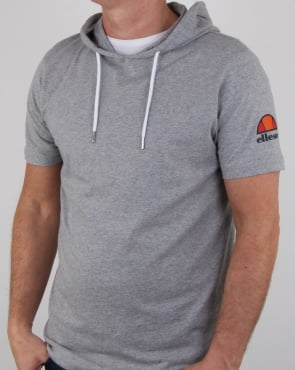 Ellesse Hooded T Shirt Athletic Grey
