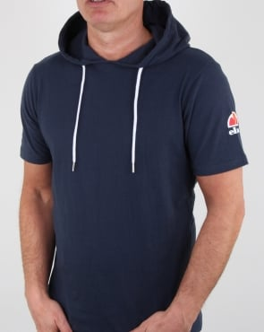 Ellesse Hooded T Shirt Navy