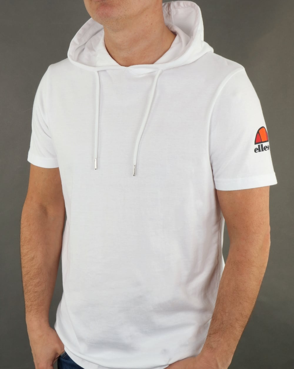 a6217c5ad8 Ellesse Hooded T Shirt White