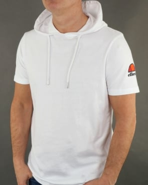 Ellesse Hooded T Shirt White