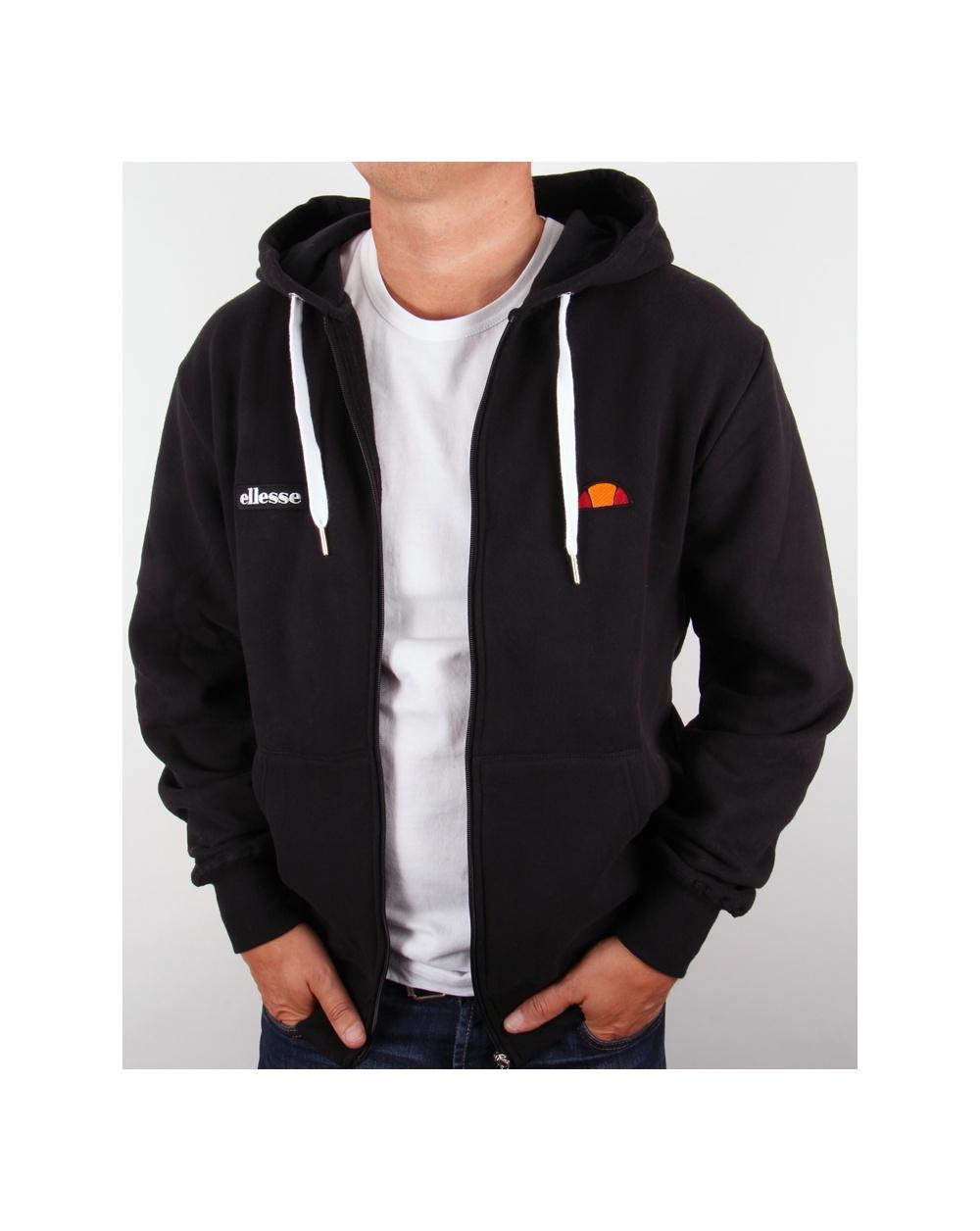 Black full zip hoodie