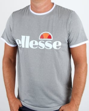 Ellesse Impact Sports T Shirt Grey Marl