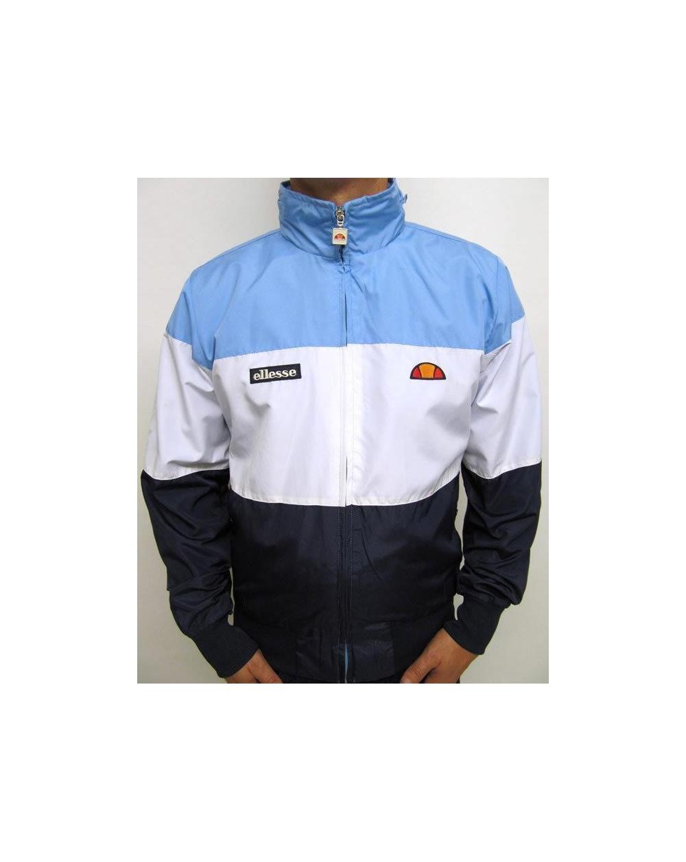 ellesse le querce rain jacket sky blue white navy ellesse heritage windrunner jacket. Black Bedroom Furniture Sets. Home Design Ideas