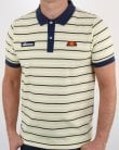 Ellesse Lemon Navy Striped Polo Shirt