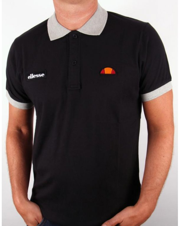 Ellesse Lessepsia Polo Shirt Black/grey