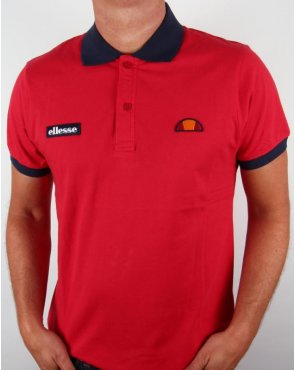 Ellesse Lessepsia Polo Shirt Red/navy