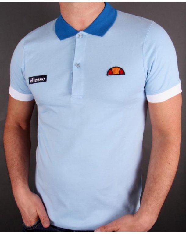 Ellesse Lessepsia Polo Shirt Sky Blue