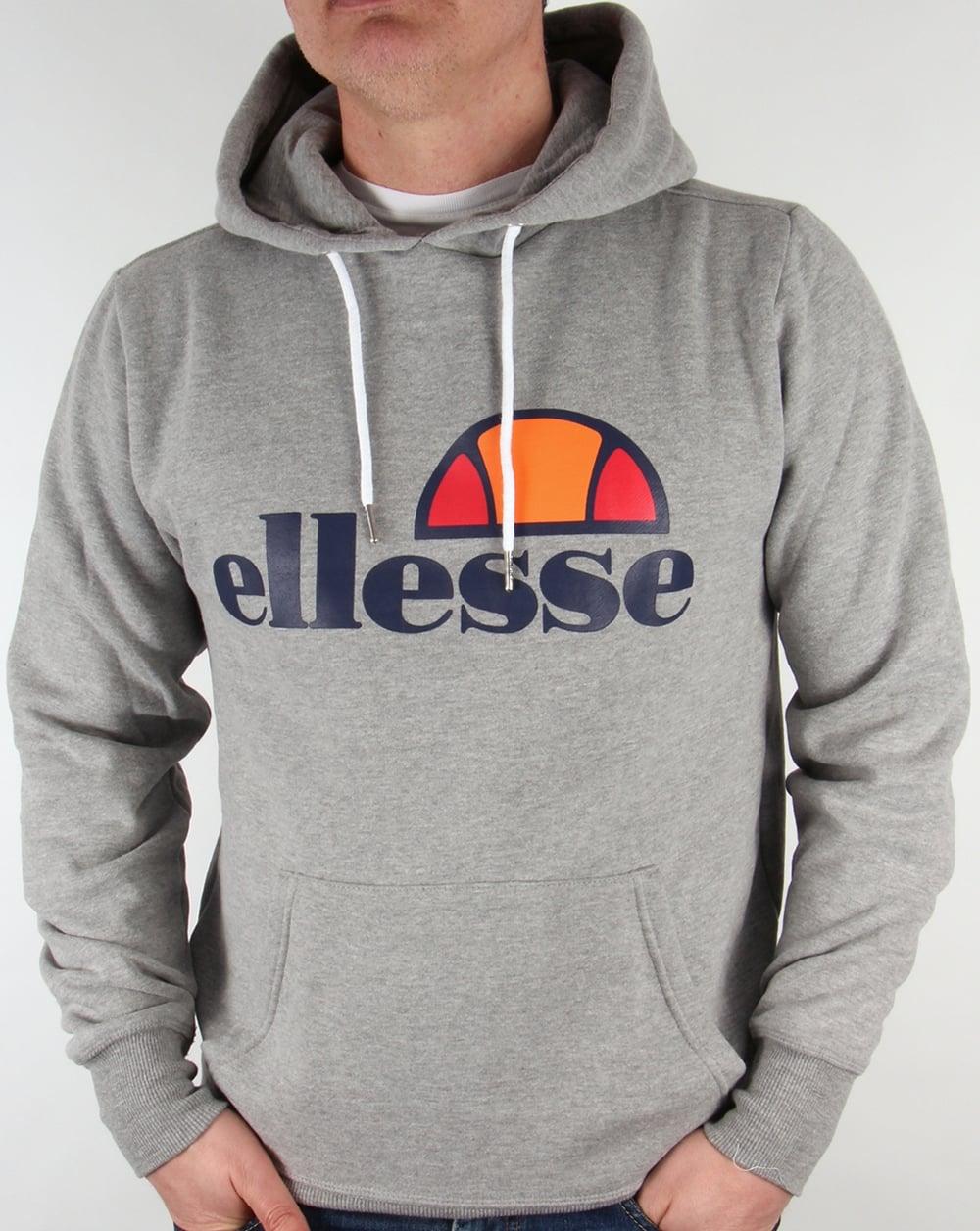 98d11b8ea Ellesse Logo Hoody Grey Marl,hooded,overhead,mens
