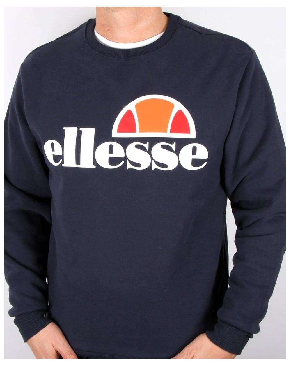 Najlepsze miejsce 2018 buty świetne dopasowanie Ellesse Logo Sweatshirt Navy