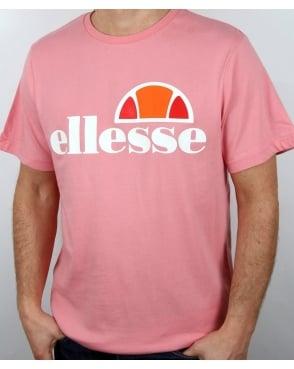 Ellesse Logo T Shirt Candy Pink