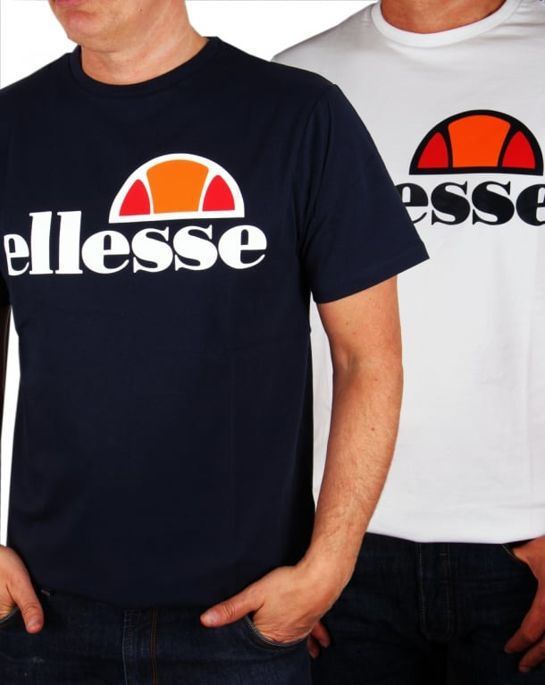 Ellesse Logo T-shirt Double Pack Navy/White